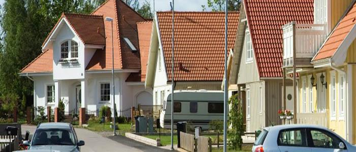 Hus vid gata